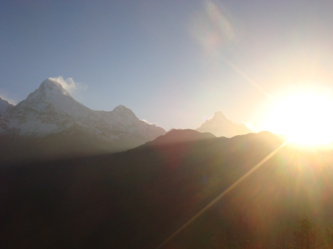 Top of Poon Hill trek for sunrise